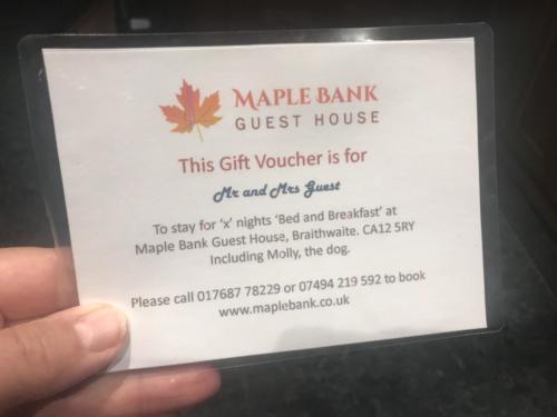 Maple Bank Gift Voucher