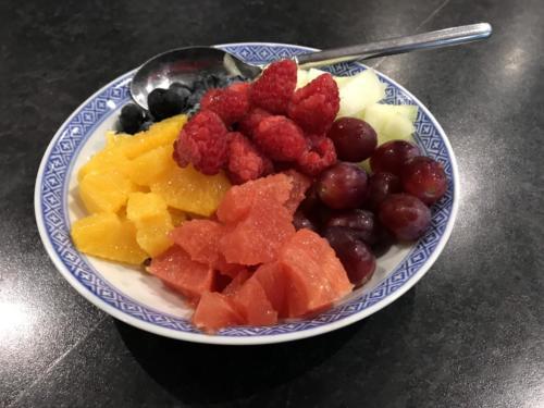 Fresh fruit salad for breakfast