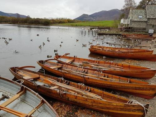 Rowing boats for hire on Derwentwater